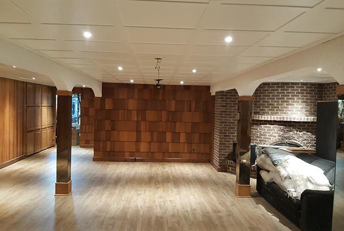 r novation de sous sol suite au d g t d 39 eau r novation. Black Bedroom Furniture Sets. Home Design Ideas